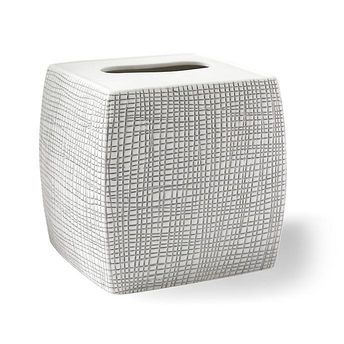 Alternate image 1 for Kassatex Raffia Boutique Tissue Box Cover in Grey