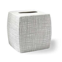 Kassatex Raffia Tissue Box Cover in Grey