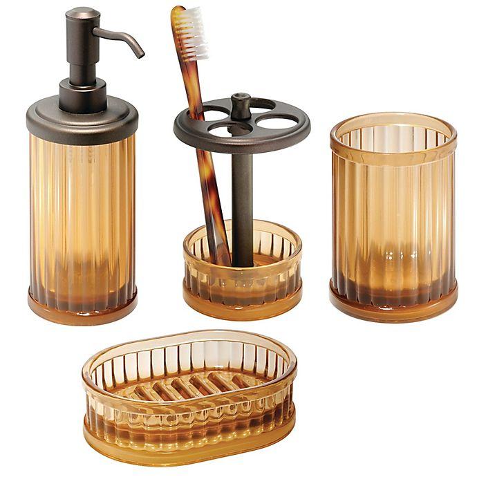 interdesign® alston bath accessories (set of 4) | bed bath