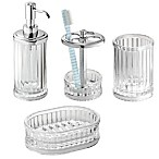 iDesign® Alston Bath Accessories (Set of 4) in Clear