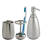 iDesign® Nogu Bath Accessories (Set of 3) in Brushed Stainless Steel