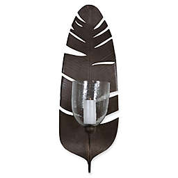 Uttermost Lallia Leaf Candle Wall Sconce in Bronze