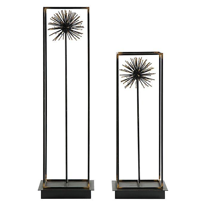 Alternate image 1 for Uttermost Flowering Dandelions Sculptures in Aged Black (Set of 2)
