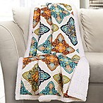 Lush Decor Persis Sherpa Throw Blanket in Turquoise