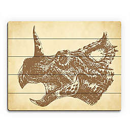 Astra Art Triceratops Wood Wall Art