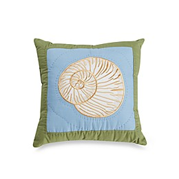 Coastal Treasure Shell Toss Pillow