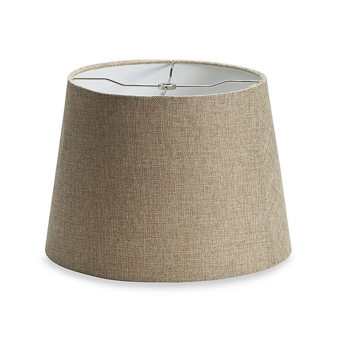 Alternate image 1 for Medium 14-Inch Linen Drum Lamp Shade in Tan