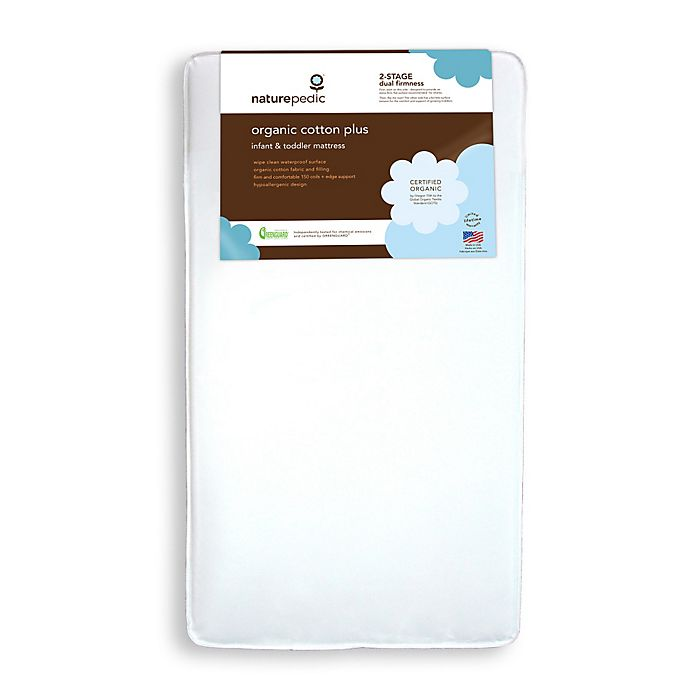 Alternate image 1 for Naturepedic® Organic Cotton Plus Crib Mattress