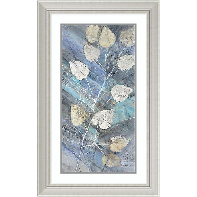 Amanti Art Silver Leaves II 20-Inch X 32-Inch Framed Wall