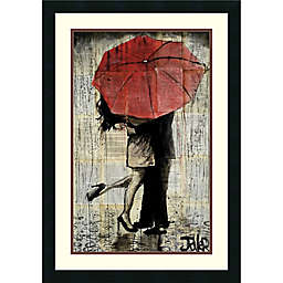 Amanti Art The Red Umbrella 21-Inch x 30-Inch Framed Wall Art