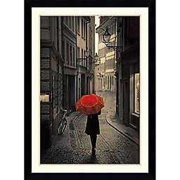 Amanti Art Red Rain 31-Inch x 43-Inch Framed Wall Art