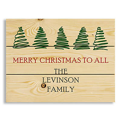 """Merry Christmas to All"" 14-Inch x 10.69-Inch Wood Wall Art"