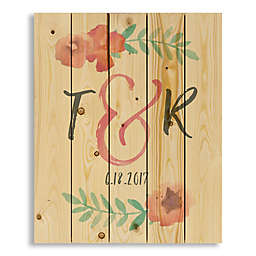 Designs Direct Watercolor Flowers 18-Inch x 22-Inch Pallet Wood Art