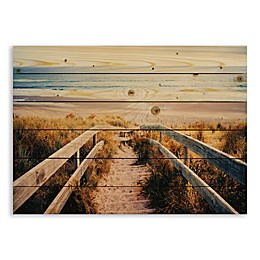 Designs Direct Sandy Beach Pier 30-Inch x 21-Inch Pallet Wood Wall Art