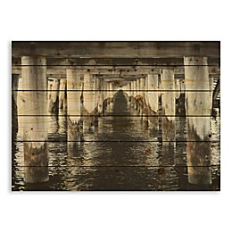 Designs Direct Under the Pier 30-Inch x 21-Inch Pallet Wood Wall Art