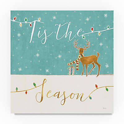 Underlined Christmas III Canvas Wall Art