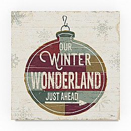 Trademark Fine Art Christmas Signs II 14-Inch Square Canvas Wall Art