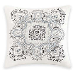 Echo™ Larissa Embroidered Square Throw Pillow in White