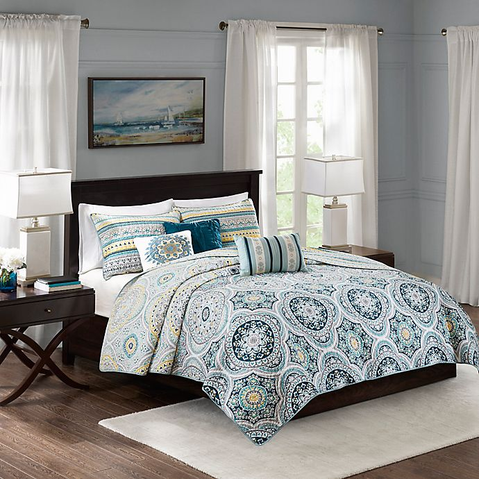 Alternate image 1 for Madison Park Mercia Reversible Coverlet Set