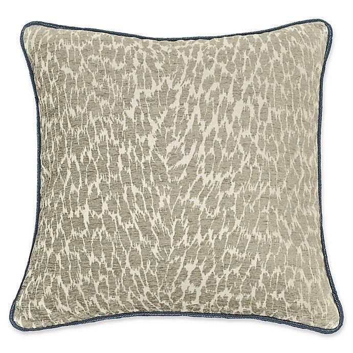 Alternate image 1 for Rose Tree Preston Woven Square Throw Pillow in Indigo