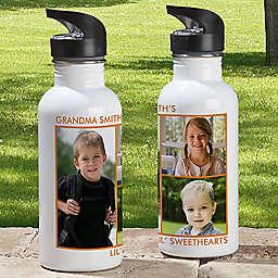 3-Photo 20 oz. Water Bottle