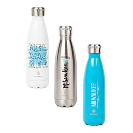 Manna™ Vogue® Milwaukee 17 oz. Double Wall Stainless Steel Water Bottle