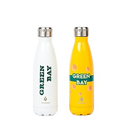 Manna™ Vogue® Green Bay 17 oz. Double Wall Stainless Steel Water Bottle