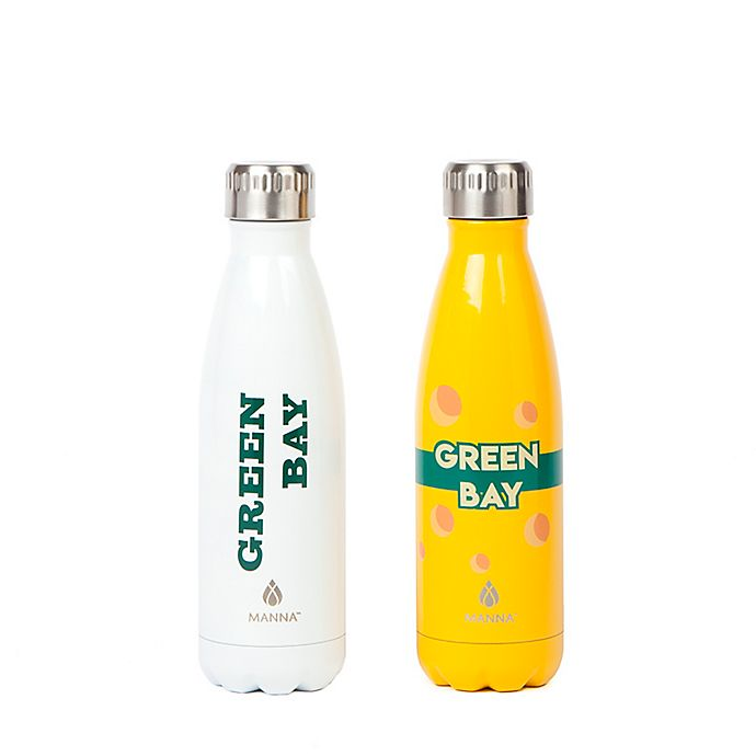 Alternate image 1 for Manna™ Vogue® Green Bay 17 oz. Double Wall Stainless Steel Water Bottle