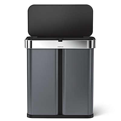 simplehuman® 58-Liter Dual Compartment Voice & Motion Sensor Trash Can