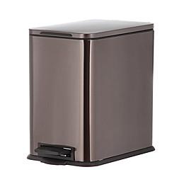 SALT™ 15 Liter Stainless Steel Step Trash Can in Black