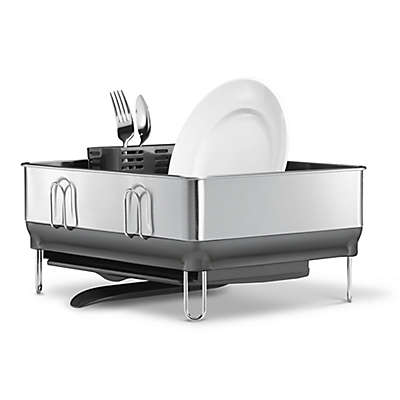 simplehuman® Compact Steel Frame Dish Rack in Grey