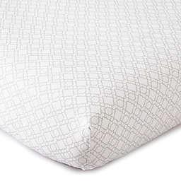 LevtexBaby® Skylar Lattice Fitted Crib Sheet in Grey/White