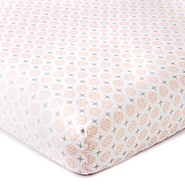 LevtexBaby® Skylar Coin Medallion Fitted Crib Sheet in Blush