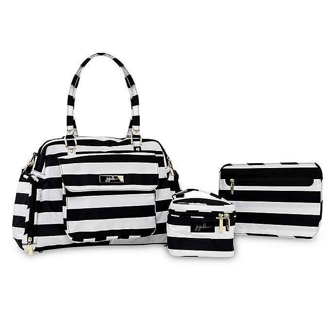 Alternate image 1 for Ju-Ju-Be® Be Pumped The First Lady Pump Bag in Black/White