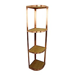 Enclume® 4-Tier Corner Cookware Stand in Brushed Copper