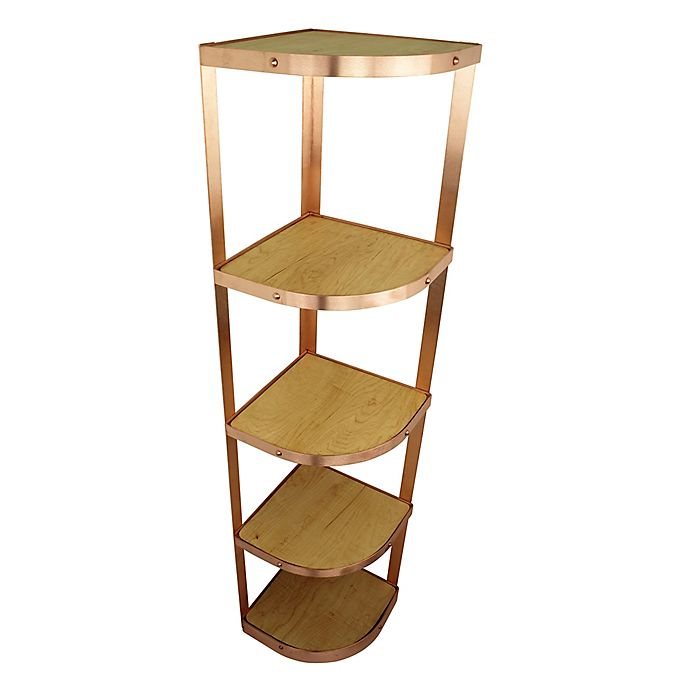 Alternate image 1 for Enclume® 5-Tier Corner Cookware Stand in Brushed Copper