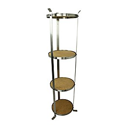 Enclume® 4-Tier Unassembled Round Stand in Stainless Steel