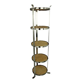 Enclume® 5-Tier Unassembled Round Stand in Stainless Steel