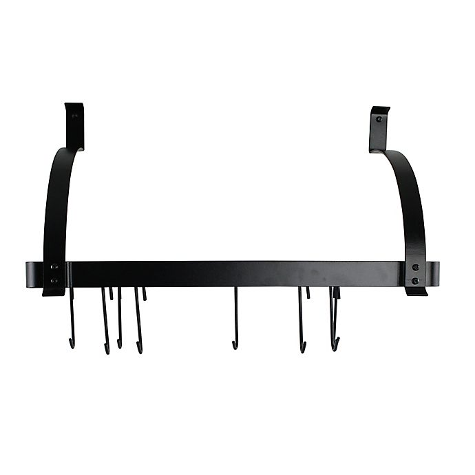 Alternate image 1 for Enclume® RACK IT UP Bookshelf Pot Rack in Black