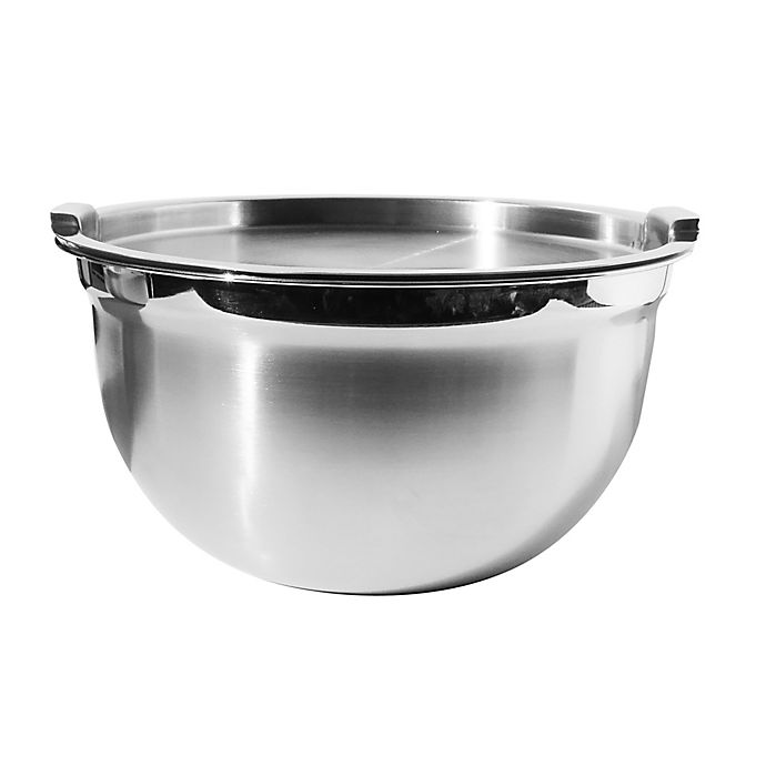 Alternate image 1 for Oggi™ 5-Quart Stainless Steel Mixing Bowl with Lid