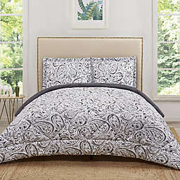 Truly Soft Watercolor Paisley Reversible Comforter Set
