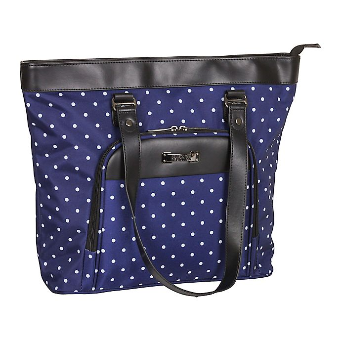 Alternate image 1 for Kenneth Cole Reaction 15.6-Inch Computer Shopper's Tote in Navy Dot