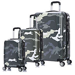 InUSA Camouflage Hardside Spinner Checked Luggage