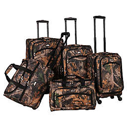 American Flyer 5-Piece Spinner Luggage Set in Camo Green