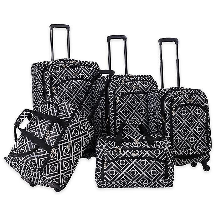 Alternate image 1 for American Flyer Astor 5-Piece Spinner Luggage Set