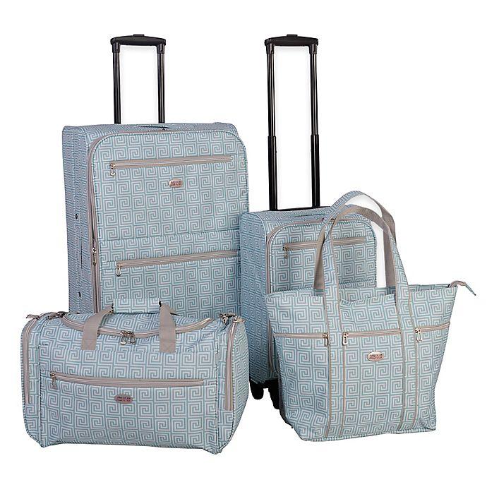 Alternate image 1 for American Flyer Meander 4-Piece Spinner Luggage Set