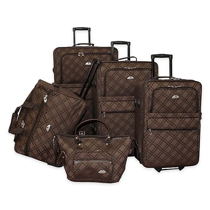 Alternate image 1 for American Flyer Pemberly Buckles 5-Piece Rolling Luggage Set