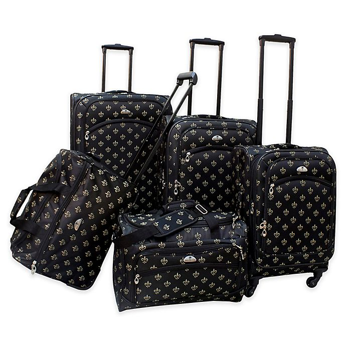 Alternate image 1 for American Flyer Lyon 5-Piece Spinner Luggage Set
