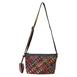 Amerileather Stella Slim Leather Shoulder Bag in Rainbow