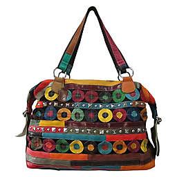 Amerileather Quincy Handbag in Rainbow
